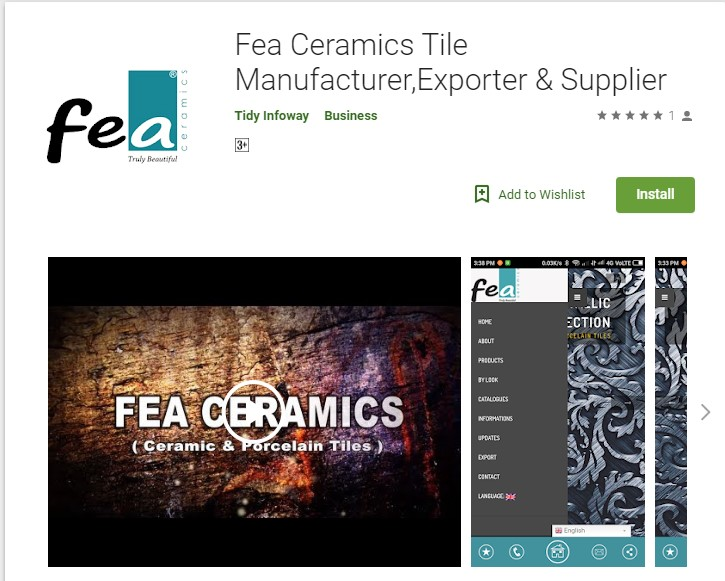 FEA CERAMIC LAUNCHED ANDROID MOBILE APPLICATION