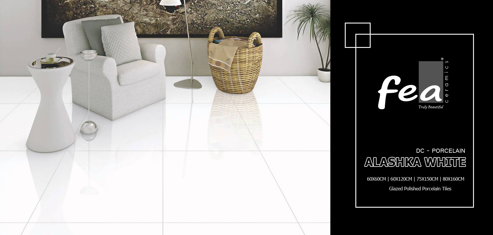 Alaska White Polished Porcelain Tiles Porcelain Tilesfloor Tiles